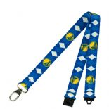 Golden State Warriors Lanyard, Team Colour Argyle Style Pattern